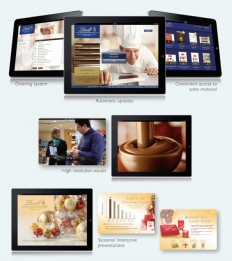Lindt & Sprüngli, table, packaging design, interactive presentations, Beakbane